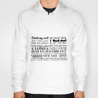 lettering Hoodies featuring Lettering Lyrics by Insait disseny