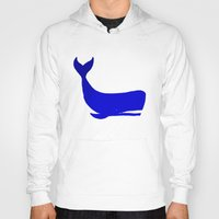 the whale Hoodies featuring Whale by Good Sense