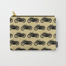 Antique Motorcycle // Tan Carry-All Pouch