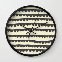 Scalloped Garland Wall Clock