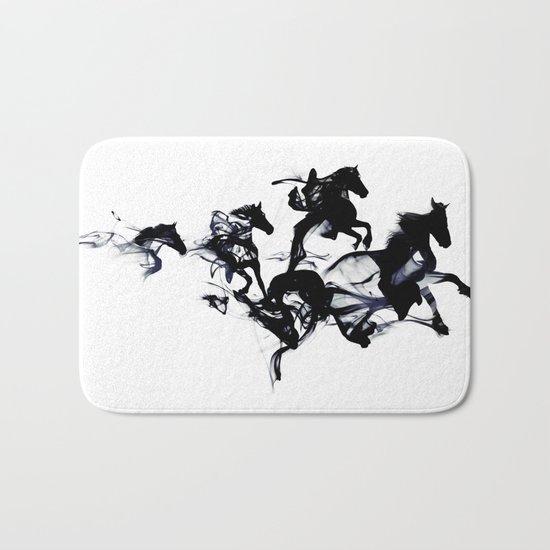 Black horses Bath Mat