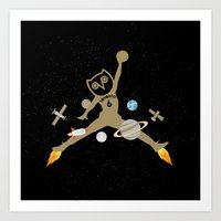 space jam Art Prints featuring Space Jam by October's Very Own