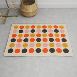 Retro Bauhaus Dots | 70s European Pattern Rug
