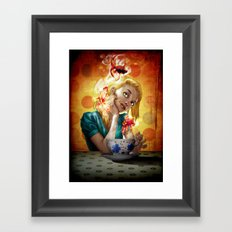 A cup of gold Framed Art Print