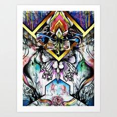 Axis Dahlia Art Print