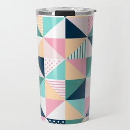 Abstract Triangles Travel Mug