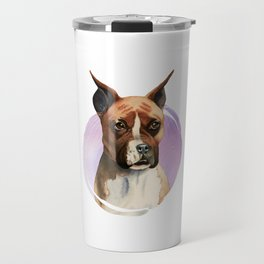 Boxer Dog Watercolor Painting 2 Travel Mug