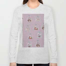 Christmas Pattern Pink Long Sleeve T-shirt