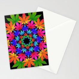 Cannabis Indica Leaf Mandala Stationery Cards