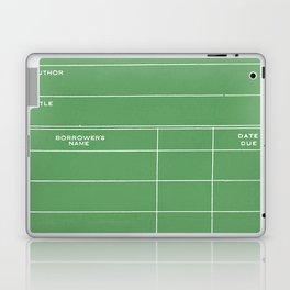 Library Card BSS 28 Negative Green Laptop & iPad Skin
