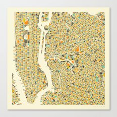 New York Map Canvas Print