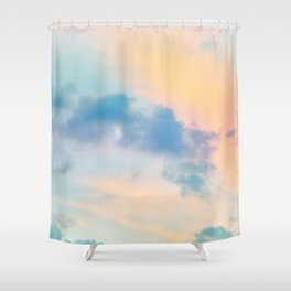 Unicorn Pastel Clouds #6 #decor #art #society6 Shower Curtain