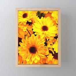 Daisies Yellow 3 Framed Mini Art Print