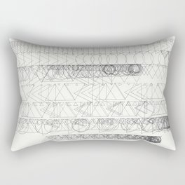 How the Afternoon Usually Went Rectangular Pillow