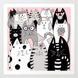 Cool Cats Art Print