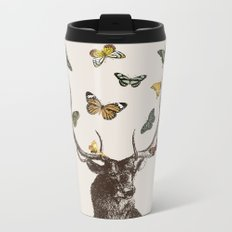 The Stag and Butterflies Metal Travel Mug