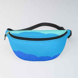 Minimal Mountain Range Outdoor Abstract Fanny Pack