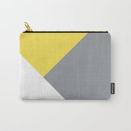 Illuminating meets Ultimate Gray & White Geometric #1 #minimal #decor #art #society6 Carry-All Pouch