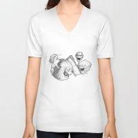 dessert V-neck T-shirts featuring Dessert by Bryan Hartnett