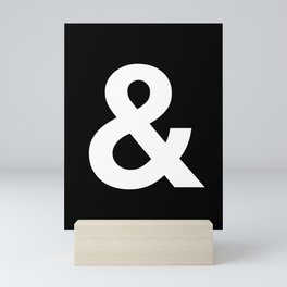 Black and White Ampersand Helvetica Typography Design Poster Home Decor Wall Art Scandinavian Decor Mini Art Print