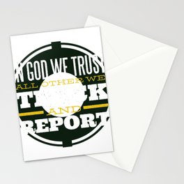 In God We Trust award Stationery Cards