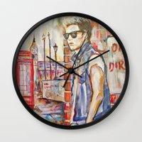 niall Wall Clocks featuring Niall by Iván Gabela