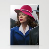 agent carter Stationery Cards featuring Agent Carter by DandyBee