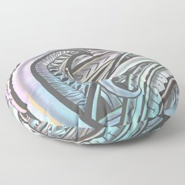 Pastel Polynesian Floor Pillow