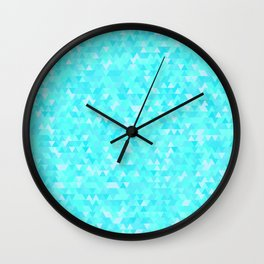 Blue triangle background Wall Clock