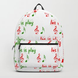 Let it play... Christmas music - Christmas Series Backpack