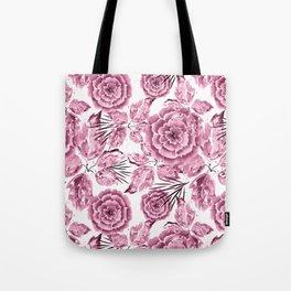 Dusty pink flowers. Tote Bag