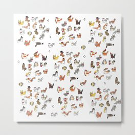 Fancy Cats Metal Print