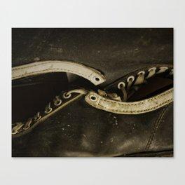 Vintage Shoe Laces Canvas Print