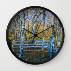 Two birches Wall Clock