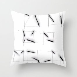 quadrats with diagonal lines Throw Pillow
