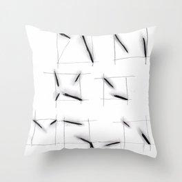 quadrats with diagonal lines Throw Pillow