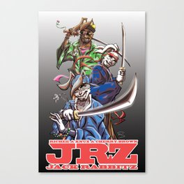 Jack Rabbitz Samurais Canvas Print