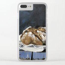 Bread on Kitchen Counter Clear iPhone Case
