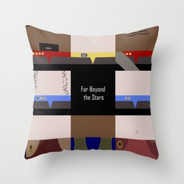 DS9 - Far Beyond the Stars - square - Minimalist Star Trek DS9 Deep Space Nine - Crew Throw Pillow