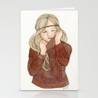 sweater Stationery Cards featuring Sweater Season by MichelleLynne