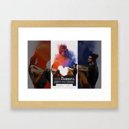Our demons, best friends Framed Art Print