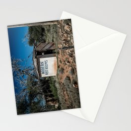 Abandoned Motel Modern Restrooms Route 66 Bard New Mexico Stationery Cards