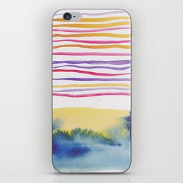 27   |181026 Lines & Color Block | Watercolor Abstract | Modern Watercolor Art iPhone Skin