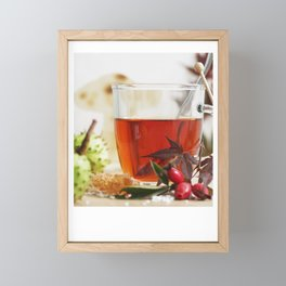 Fall time is tea time Framed Mini Art Print