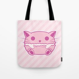 Pink Kawaii Cat Macaroon Tote Bag