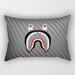 Frame carbon fiber bape shark Rectangular Pillow