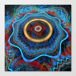 Grunge Colourful Whirly Abstract Canvas Print