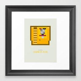 Legend of Zelda Cartridge Framed Art Print