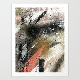 lighning [2]: a colorful abstract piece in black, white, gold, and pink Art Print