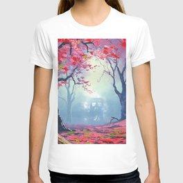 TARDIS CLOUD art painting T-shirt